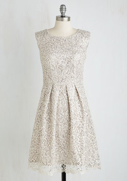 Fun One Like You Dress in Silver
