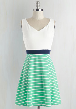 Started from the Bobbin Dress in Seaglass