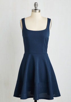 Met With Splendor Dress in Navy
