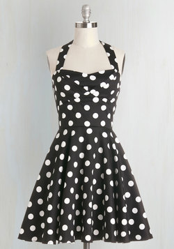Traveling Cupcake Truck Dress in Black