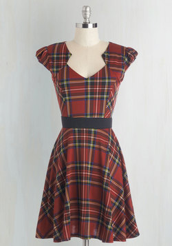 Plaid and Subtract Dress in Tartan