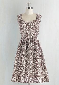 Gone Stamping Dress in Paisley