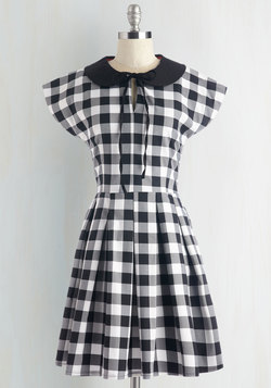 Even Checker Yet Dress