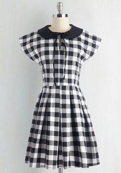 Even Checker Yet Dress