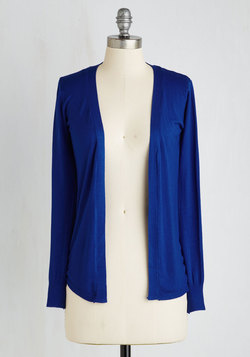 Simple Sweetness Cardigan in Cobalt