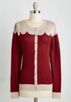 Paris Cafe Cardigan in Bordeaux
