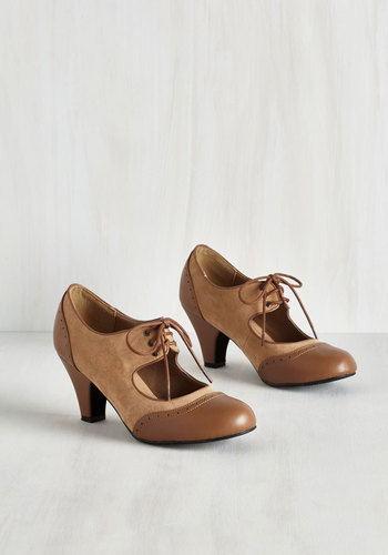 Its a Sure Fete Heel in Butterscotch $44.99 AT vintagedancer.com
