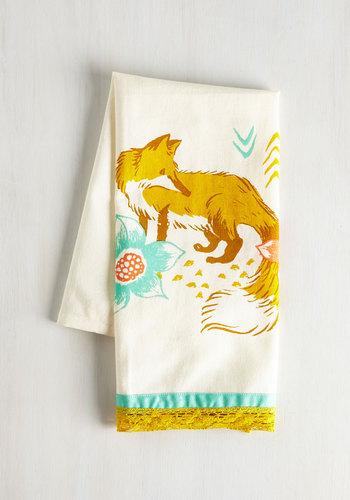 All Good in the Woods Tea Towel in Fox