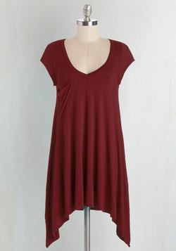 A Crush on Casual Tunic in Merlot