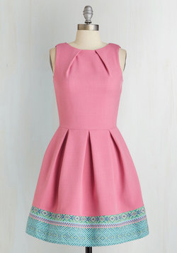 Luck Be a Lady Dress in Pink and Tapestry