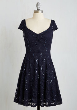 Cask Party Dress in Midnight Blue