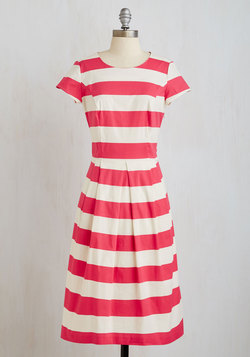 Inlet's Get Together Dress in Pink and White