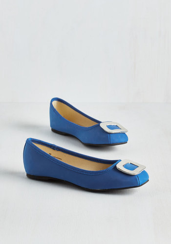 Only Thames Will Tell Flat in Cobalt $49.99 AT vintagedancer.com