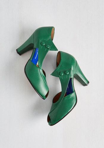 DOrsay at the dOrsay Heel in Emerald $209.99 AT vintagedancer.com