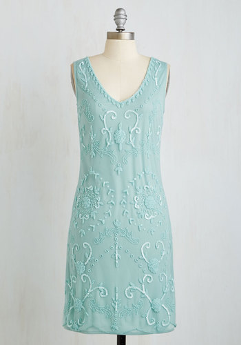Bead It Dress in Seaglass $119.99 AT vintagedancer.com