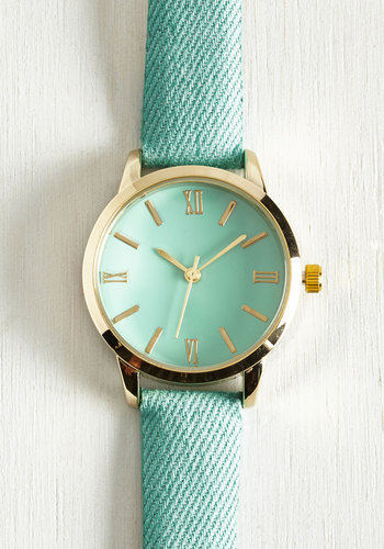 My Time has Come Watch in Turquoise | Mod Retro Vintage Watchescom