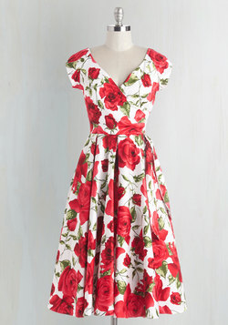 Layered Cupcakes Dress in Red and White
