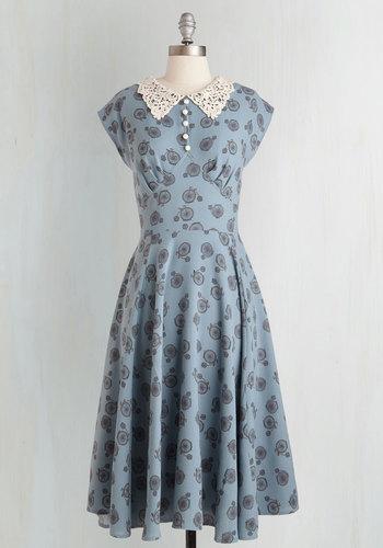 Prancing Date Dress in Penny Farthings $94.99 AT vintagedancer.com