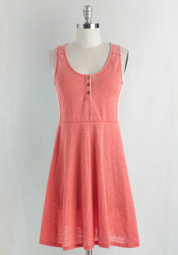 Calm and Com-flirt-able Dress in Coral