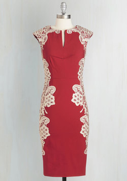 Lakeside Libations Dress in Crimson