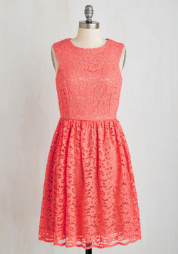 Perfect Dance Partner Dress in Coral