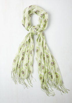 All Eyes on Me Scarf in Lime