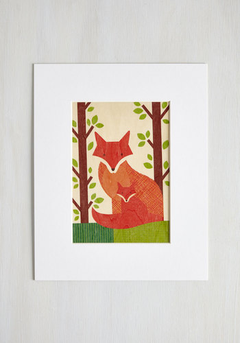 Wild at Hearth Print in Foxes - Mixed Media, Multi, Critters, Good, Print with Animals, Dorm Decor, Variation, Woodland Creature