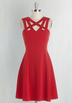 Darling of the Dance-a-thon Dress in Scarlet