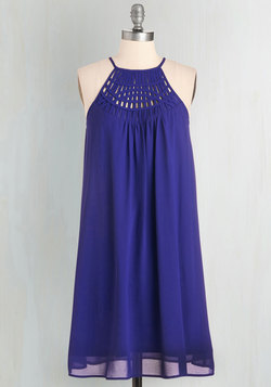 Trapeze-y on the Eyes Dress in Lapis