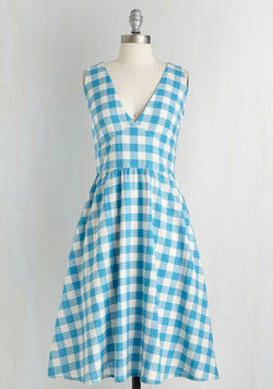 Pretty as a Picnic Dress in Gingham
