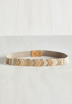 Chevron the Right Path Belt in Taupe