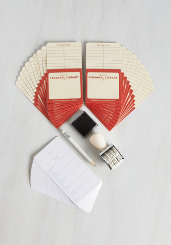 Check Me Out Library Kit - White, Cream, Red, Good, Dorm Decor, Scholastic/Collegiate, Top Rated, Gifts2015, Store 2, Unisex Gifts, Under 25 Gifts, Unique Gifts, Store 1