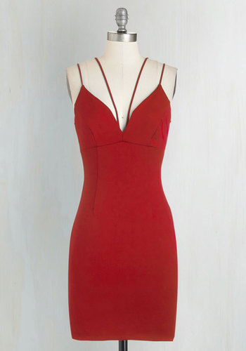 Strappier Than Ever Dress in Ruby