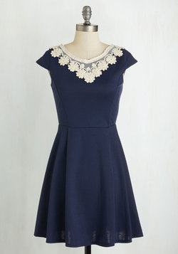 Akin to Audrey Dress in Navy