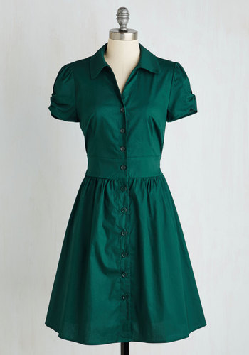 Summer School Cool Dress in Forest Green $54.99 AT vintagedancer.com