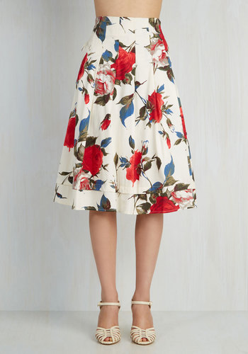 Red white floral skirt – Modern skirts blog for you