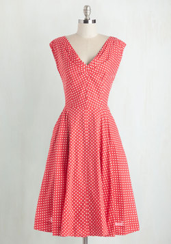 Just in Timeless Dress in Dots
