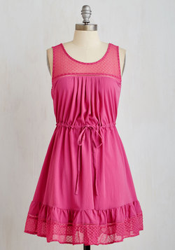 Clover and Over Dress in Fuchsia