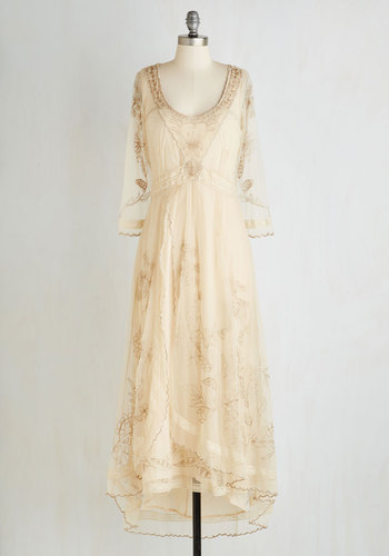 Wine Cellar Celebration Dress in Parchment $259.99 AT vintagedancer.com