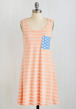 Mix it Up Dress in Peach