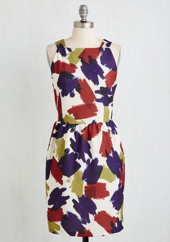 Brush Into Print Dress | Mod Retro Vintage Dresses
