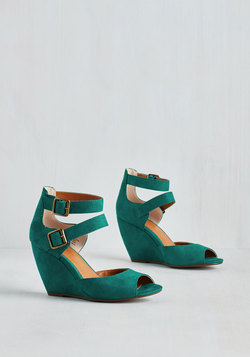 Exactly as Planned Wedge in Teal