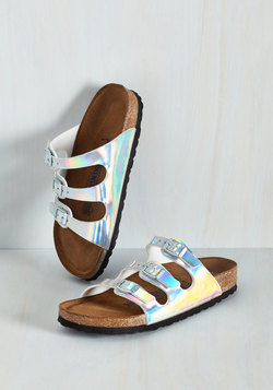 Strappy Feet Sandal in Iridescent