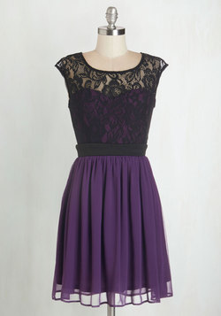 Shortcake Story Dress in Purple