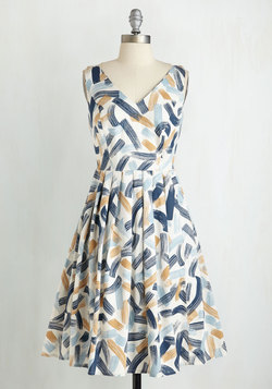 Perpetual Charm Dress in Brushstrokes