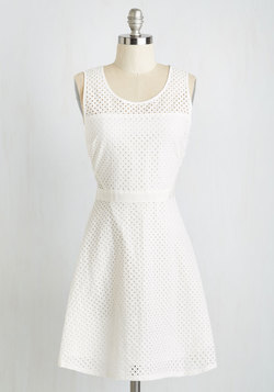 All Eyelets On You Dress
