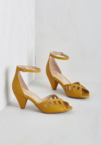 Astonish Heel in Sunflower $99.99 AT vintagedancer.com
