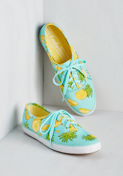 Fruits and Flatters Sneaker in Pineapple