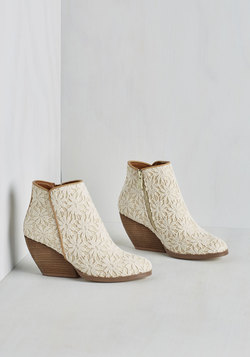 Precious Release Bootie in Ivory