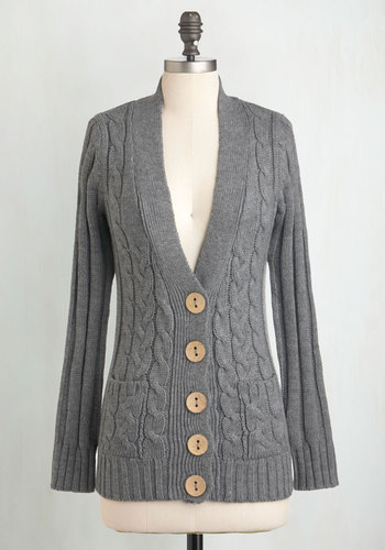 Your Fireside of the Story Cardigan in Charcoal $44.99 AT vintagedancer.com
